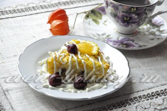 рецепт запеканки с тыквой и рисом