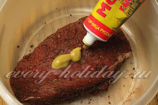 добавить горчицу