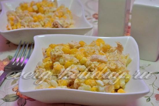 салат с куриной грудкой и кукурузой рецепт