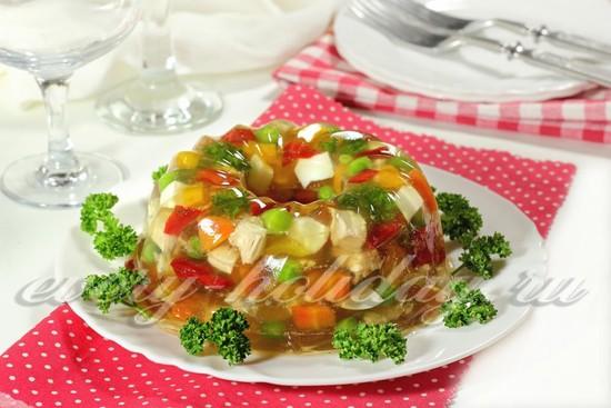 рецепт куриного заливного на праздник