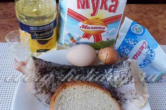 Ингредиенты для приготовления котлет из щуки