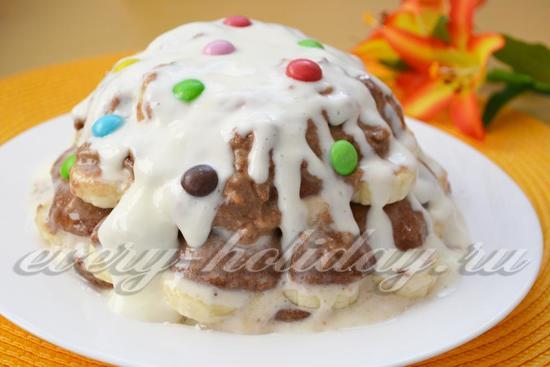 Украшаем торт из пряников