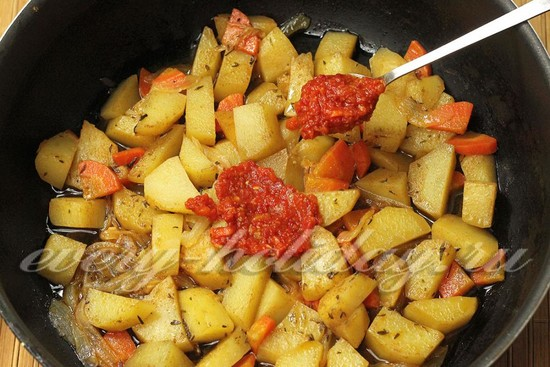 Постное овощное рагу со стручковой фасолью, рецепт