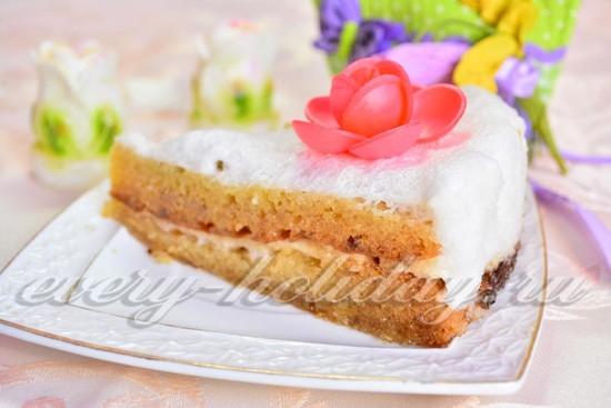Бисквитный торты с суфле рецепты с пошагово
