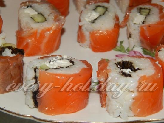 Суши в домашних условиях без нори пошаговый рецепт