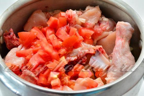 выложить помидоры