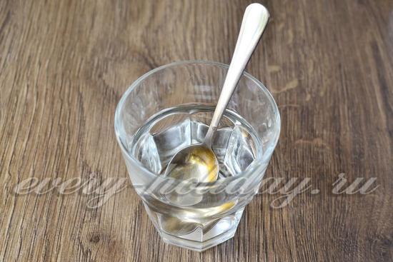 смешиваем воду с уксусом