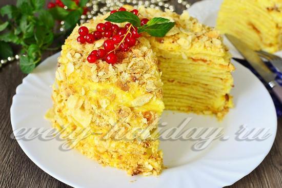 рецепт класического торта Наполеон