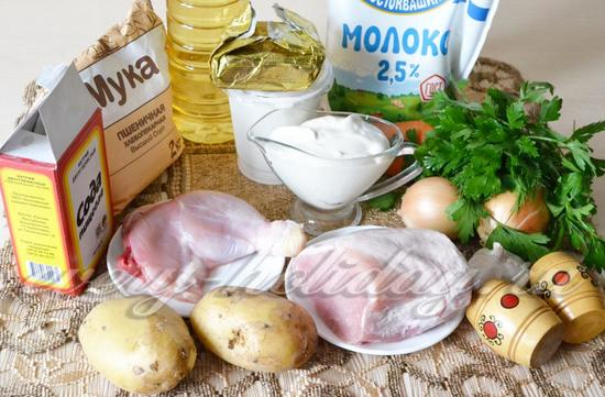 Ингредиенты для курника