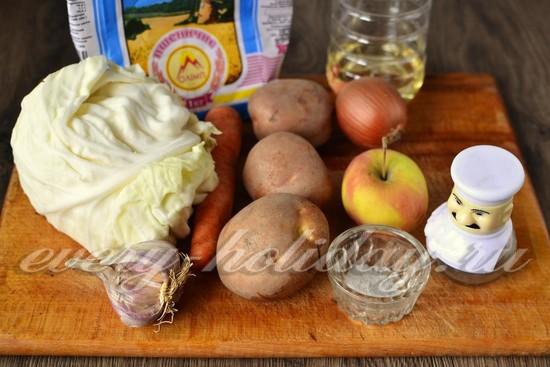 Ингредиенты для приготовления капустных котлет