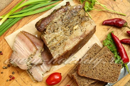 рецепт свиной пузанины, запеченной в фольге в духовке