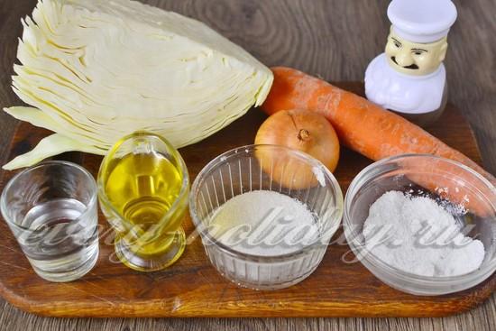 Ингредиенты для приготовления салата из капусты