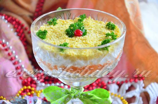 Салат мимоза из шпрот