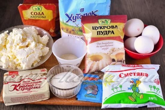 Ингредиенты для торта Слезы ангела