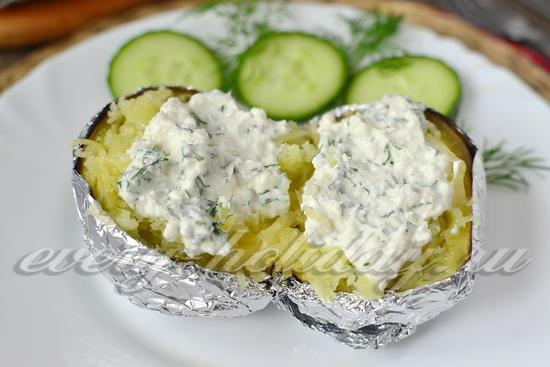 рецепт картошки со сливочным сыром