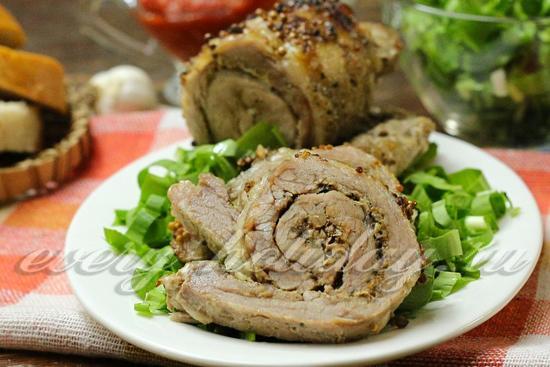 рецепт рулета из свинины