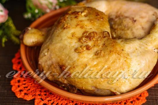 Запеченная курица в фольге
