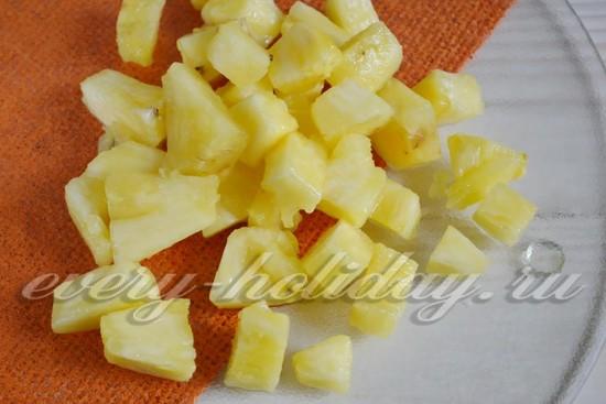 ананас нарезать