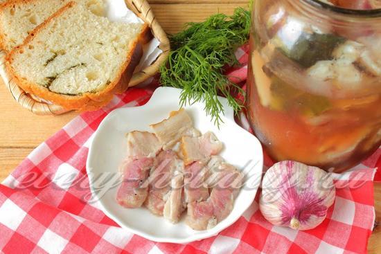 рецепт соленой свиной грудки
