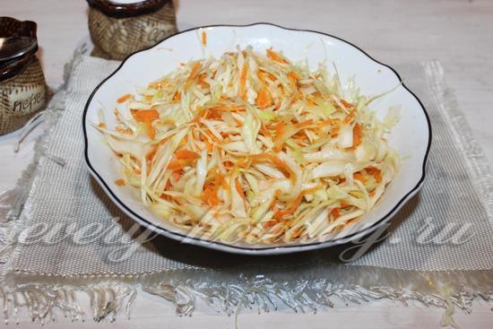 капуста яблоко морковь уксус салат