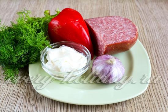 Ингредиенты для приготовления салата Будапешт