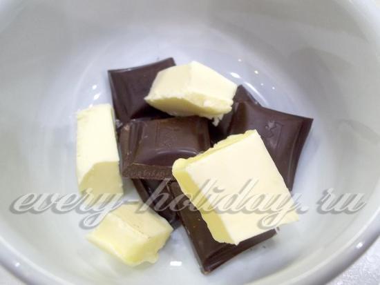 Шоколад соединен с маслом