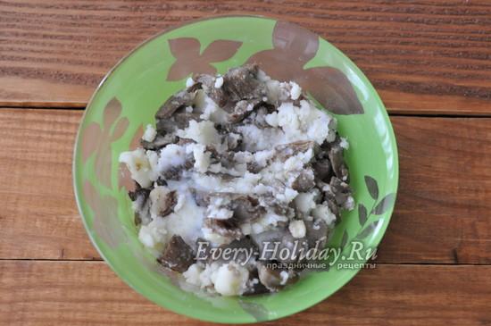 начинка из грибов и картофеля
