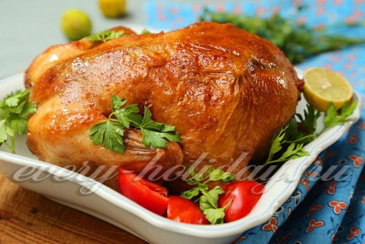 Курица фаршированная рисом в духовке, рецепт с фото