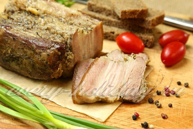 Свиная пузанина запеченная в фольге в духовке