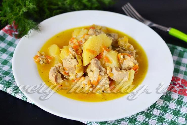 Вкусная тушеная курица рецепт с пошагово