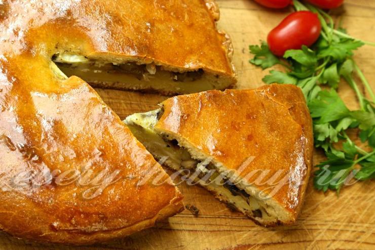 Пирожки с рисом и грибами в духовке пошаговый рецепт с