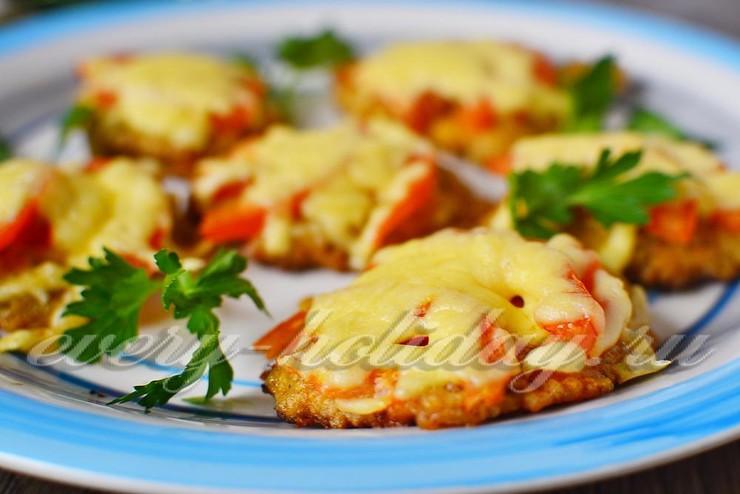 отбивные из свинины рецепт с фото с сыром и помидорами