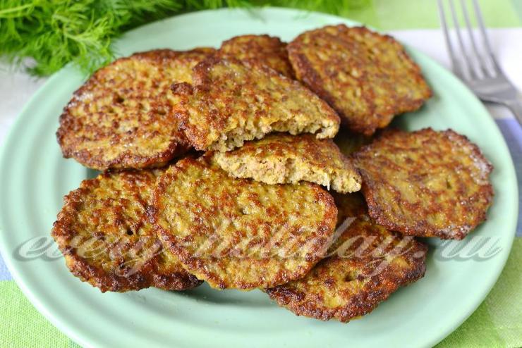 Печеночные оладьи из говяжьей печени рецепт пошагово