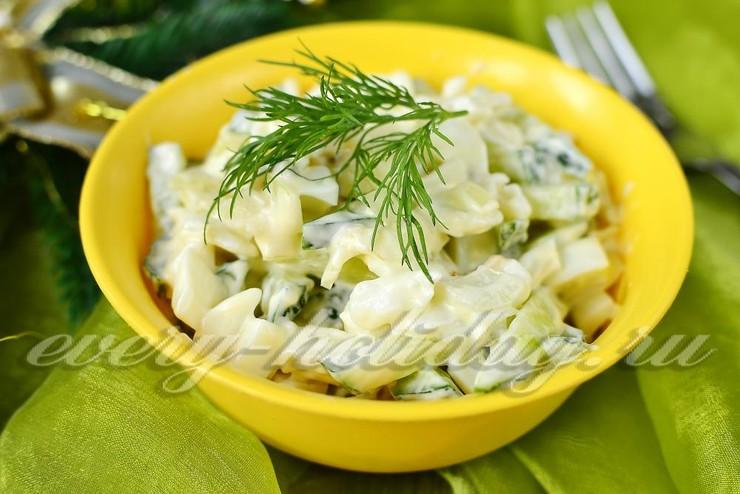 Салат с кальмарами и без яиц