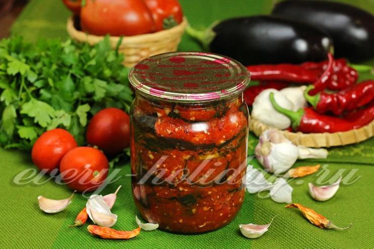 баклажаны салат тещин язык рецепт