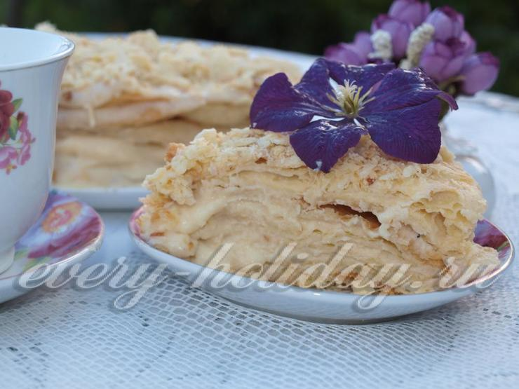 домашний рецепт торта наполеон