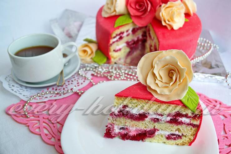 Рецепт бисквитного торта под мастику