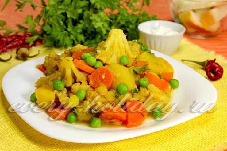 Блюда из цветной капусты постные