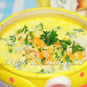 Сырный суп: рецепт с плавленым сыром