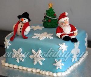 Новогодние торты из мастики своими руками, рецепты с фото