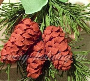 Новогодние игрушки из гофрированной бумаги на елку своими руками