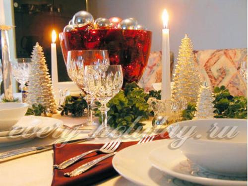 Новый год за праздничным столом
