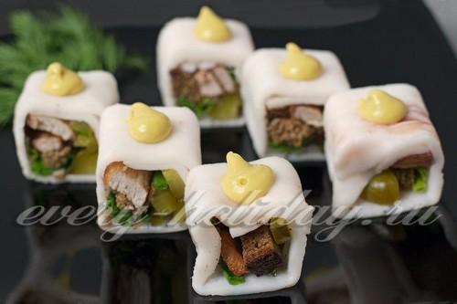 Суши из сала