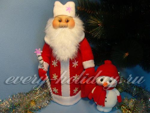 Одежда «Дед Мороз» на шампанское своими руками: мастер-класс