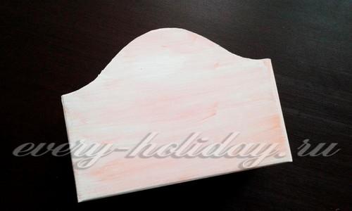 закрасить коробку белым цветом