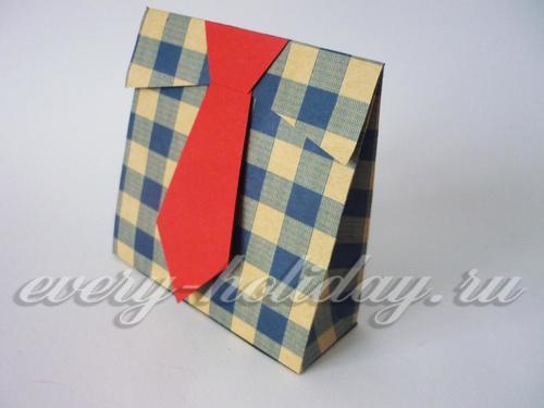 Подарочный пакетик на 23 февраля своими руками