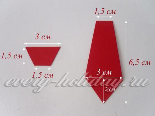 Чертим детали галстука