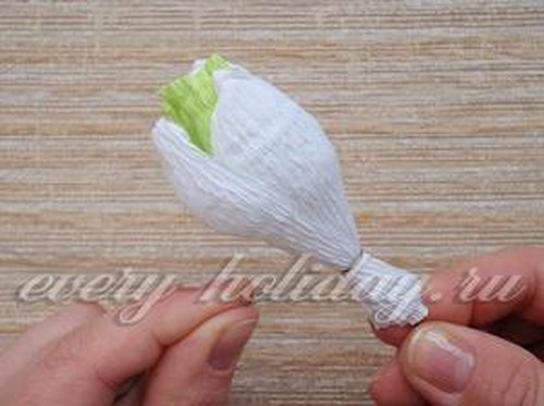 Подснежники из бумаги своими руками