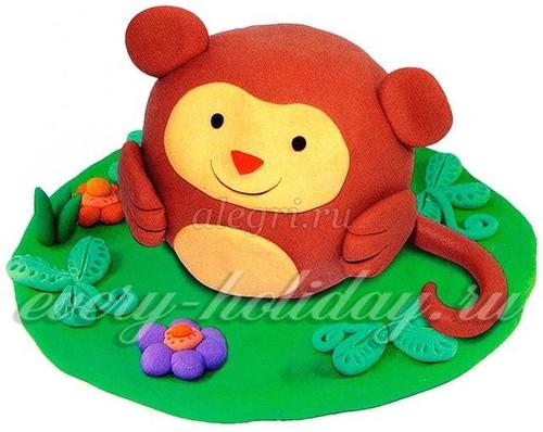 обезьяна из пластилина1