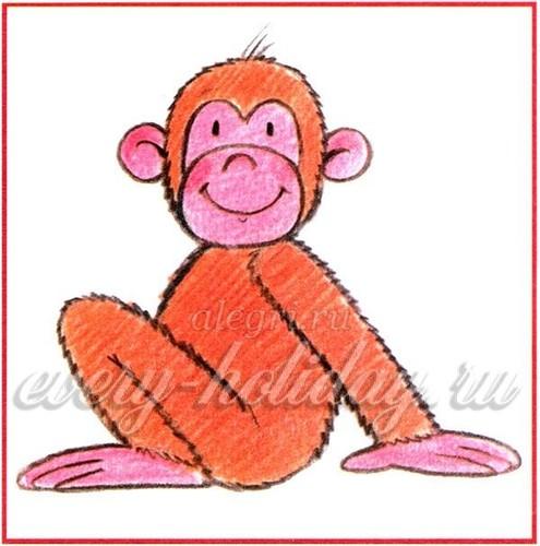 как нарисовать обезьяну_1